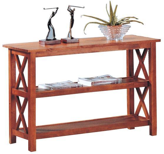 Brown Briarcliff Sofa Table with Shelves
