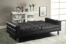 Load image into Gallery viewer, Coaster Dark Brown Futon Sofa Bed