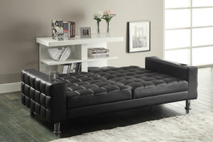Coaster Dark Brown Futon Sofa Bed