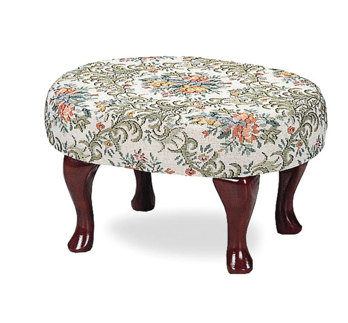 Traditional Style Multi Color Fabric Stool