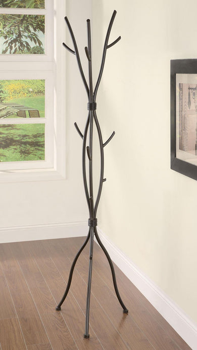 Brown Twig Style Metal Coat Rack