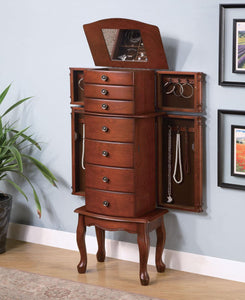 Coaster Warm Brown Jewelry Armoire