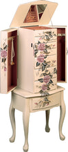 Load image into Gallery viewer, Coaster Hand Painted Floral Jewelry Armoire