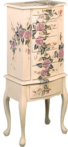 Coaster Hand Painted Floral Jewelry Armoire