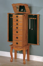 Load image into Gallery viewer, Coaster Traditional Style Warm Oak Jewelry Armoire