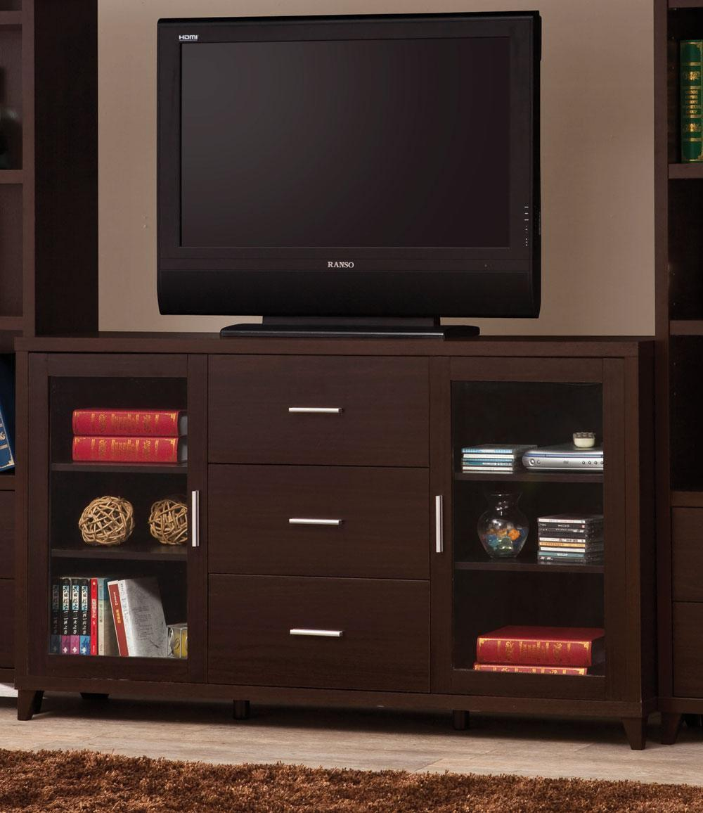 Wall Units Cappuccino TV Console