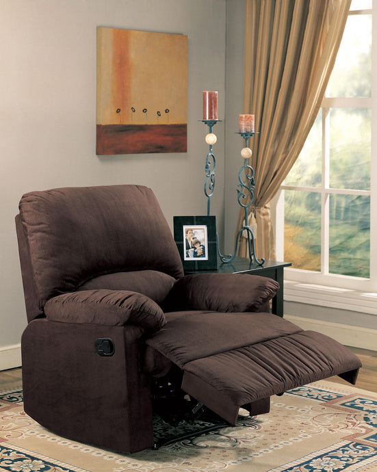 Casual Style Chocolate Recliner Chair
