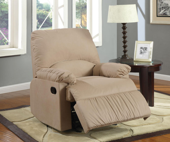 Brown Glider Casual Style Recliner Chair