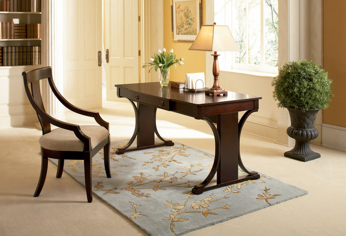 Cresta Transitional Table Desk Set with Arm Chair