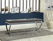 Load image into Gallery viewer, Coaster Contemporary Style Black Leatherette Bench