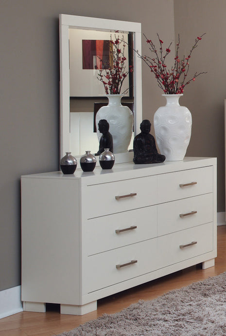 Coaster Jessica White 6 Drawers Dresser and Mirror