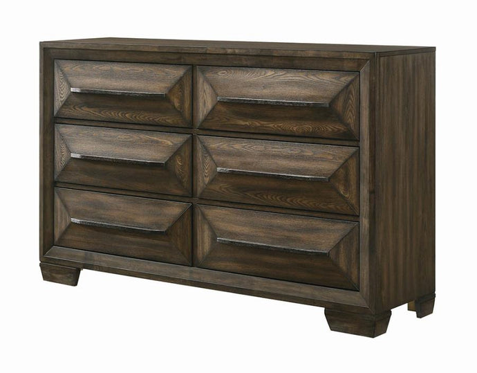 Coaster Preston 2 Drawer Rustic Chestnut Dresser