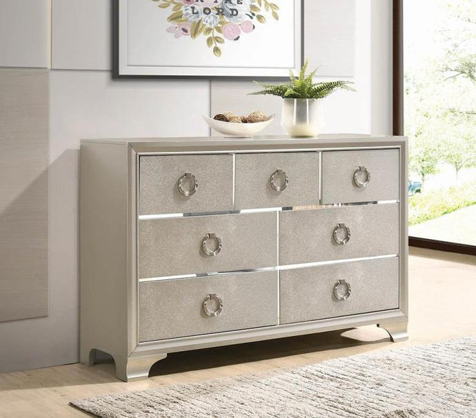 Coaster Salford 7 Drawer Metallic Sterling Dresser