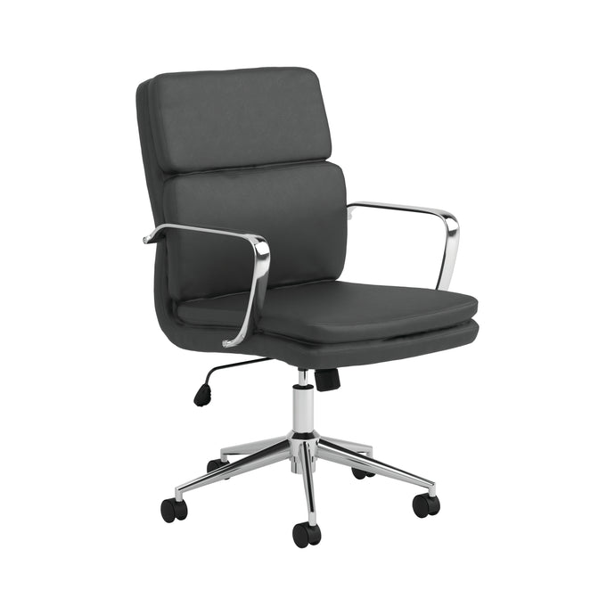 Homy Living Black Leatherette Finish Adjustable Office Chair