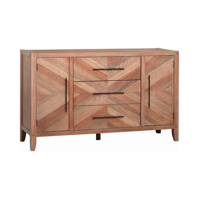 Homy Living Tawny Natural Wood Finish Dresser