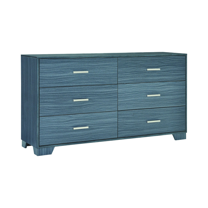 Homy Living Julian Gray And Oak Wood Finish Dresser