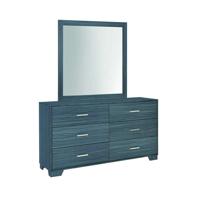 Homy Living Julian Gray And Oak Wood Finish Dresser With Mirror