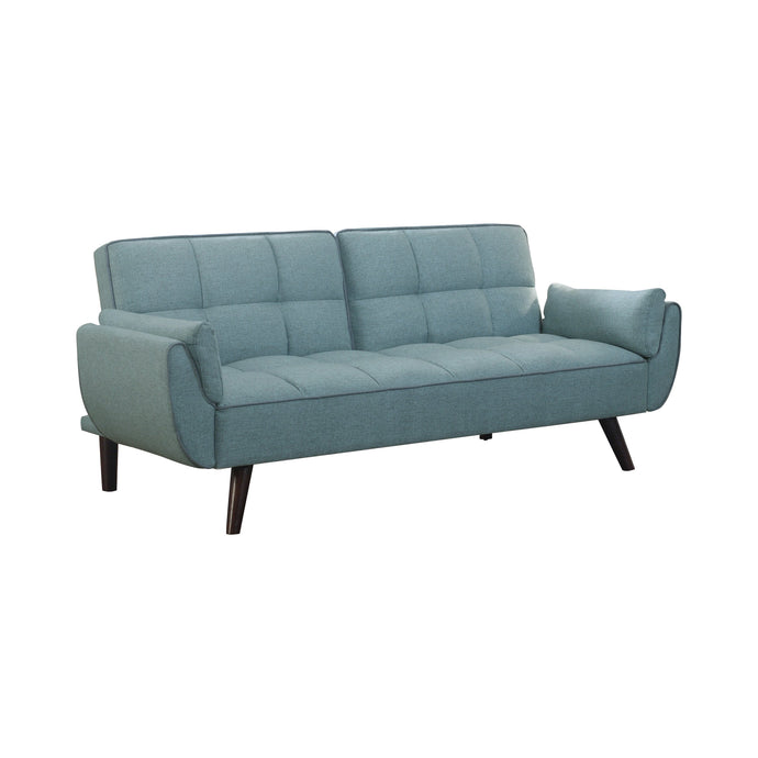 Homy Living Caufield Turquoise Fabric And Wood Finish Sofa Bed