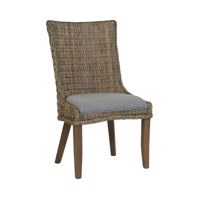 Homy Living Helena Gray Wood Finish 2 Piece Dining Chair