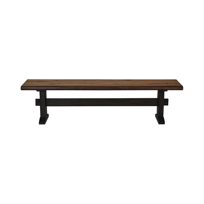 Homy Living Bexley Natural Wood Finish Dining Bench