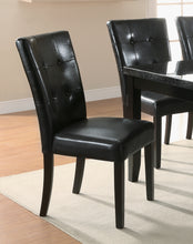 Load image into Gallery viewer, Coaster Black Upholstered Cappuccino Dining Side Chair Set of 2