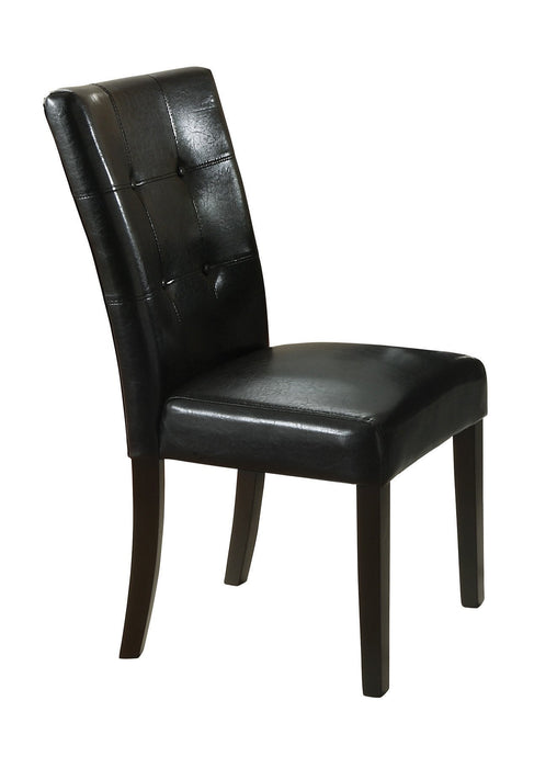 Black Upholstered Cappuccino Dining Side Chair