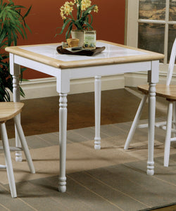 Damen Square Tile Top Dining Table in Natural White