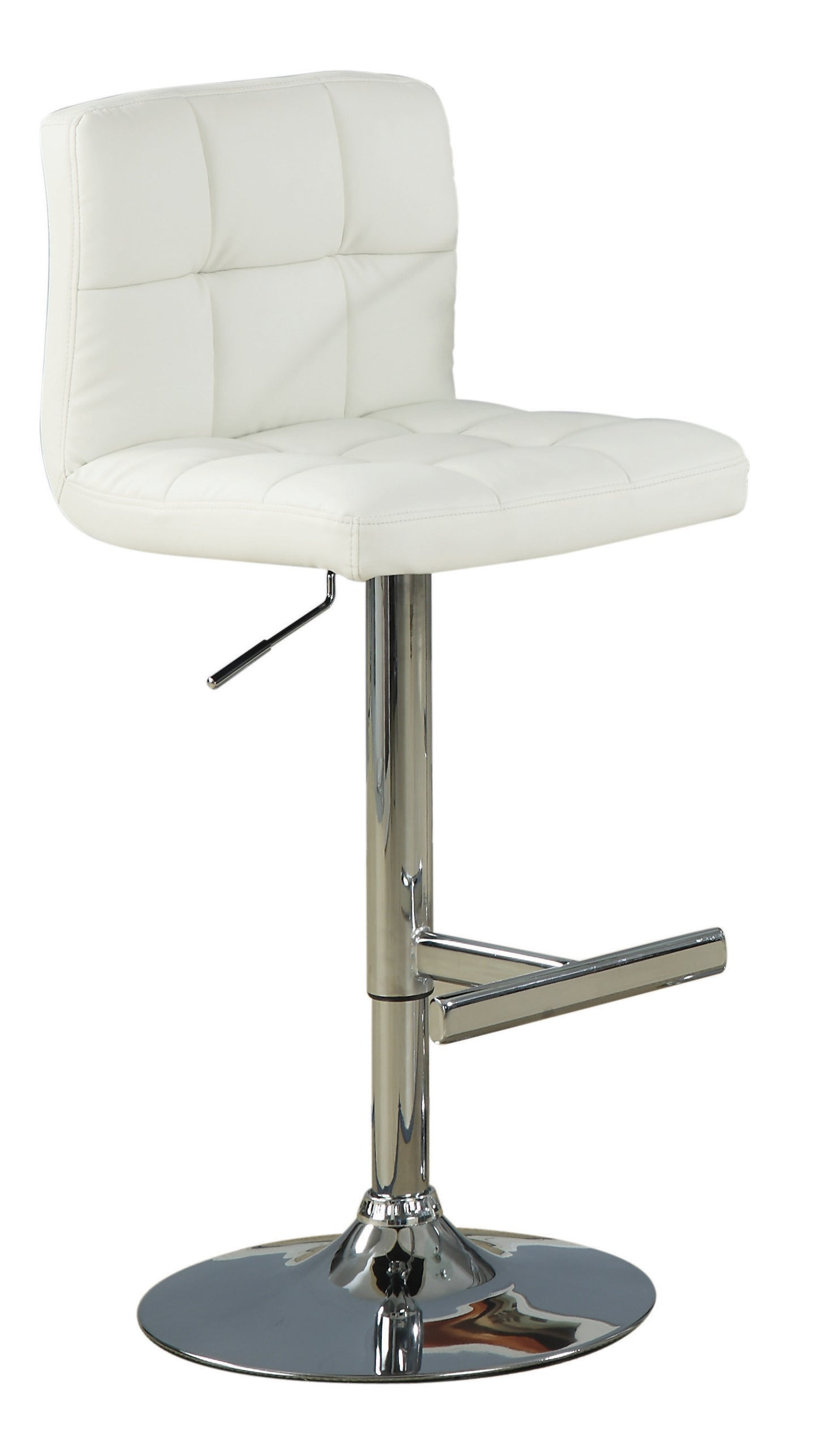 Coaster Cream Leather And Chrome Finish 2 Piece Bar Stool