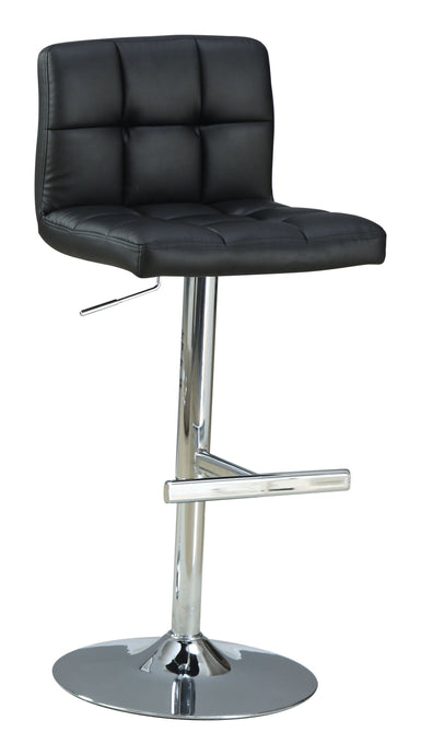 Homy Living Black Upholstered Chrome Adjustable Bar Stool
