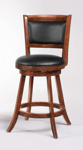 Coaster Counter Height Swivel Bar Stool in Espresso Set of 2
