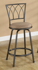 Coaster 24 Inch Black Metal Counter Height Stool Set of 2