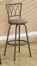 Load image into Gallery viewer, Coaster 29 Inch Upholstery Black Metal Bar Stool Set of 2