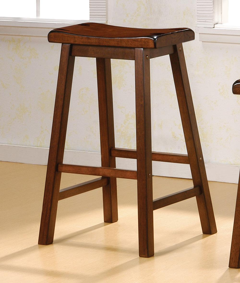 Coaster 29 Inch Walnut Saddle Bar Stool Set of 2