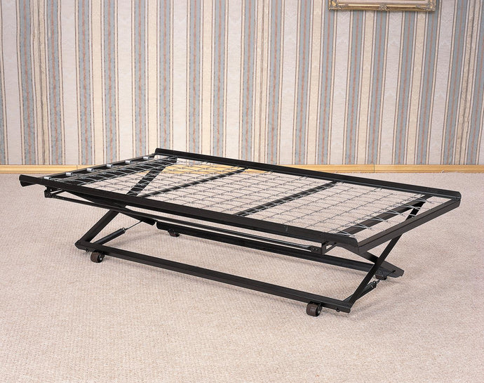 Coaster Pop Up Trundle Bed Frame with Casters