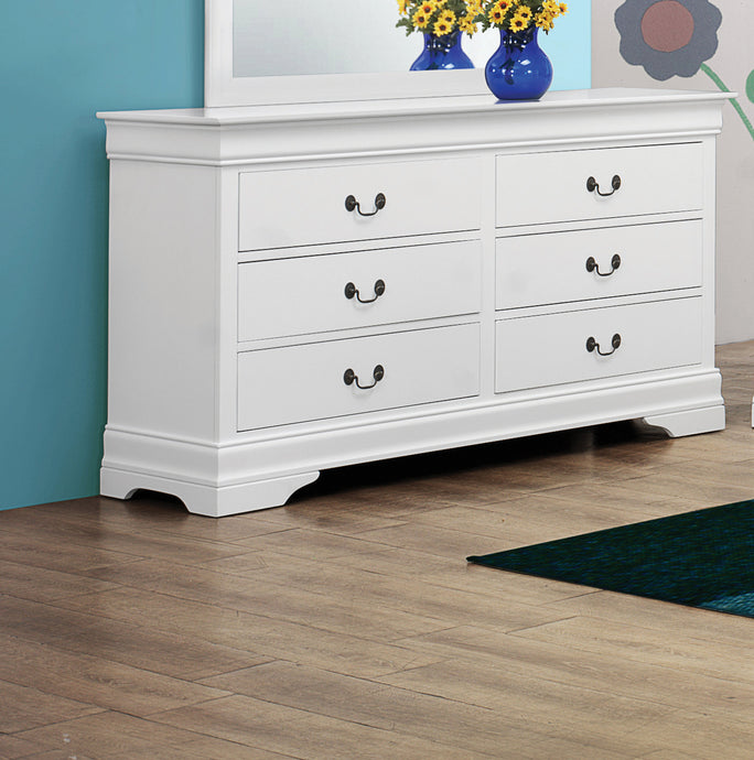 Coaster Louis Philippe White 6 Drawers Dresser