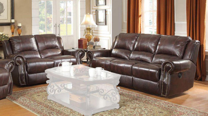 Sir Rawlinson Brown Reclining Sofa and Loveseat