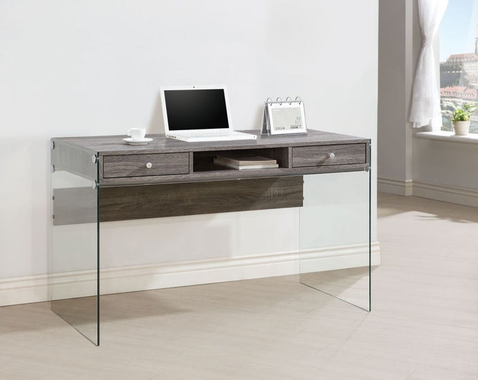 Modern Computer Desk with Glass Side