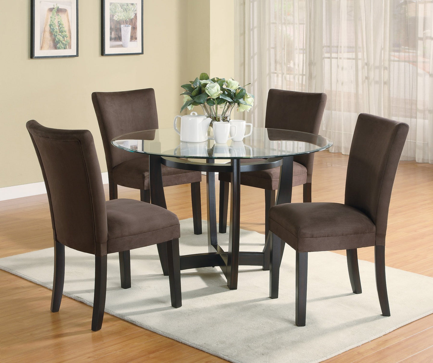 Bloomfield Glass Top Dining Table Set