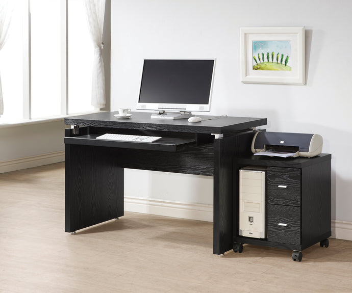 Peel Black Computer Desk and CPU Stand