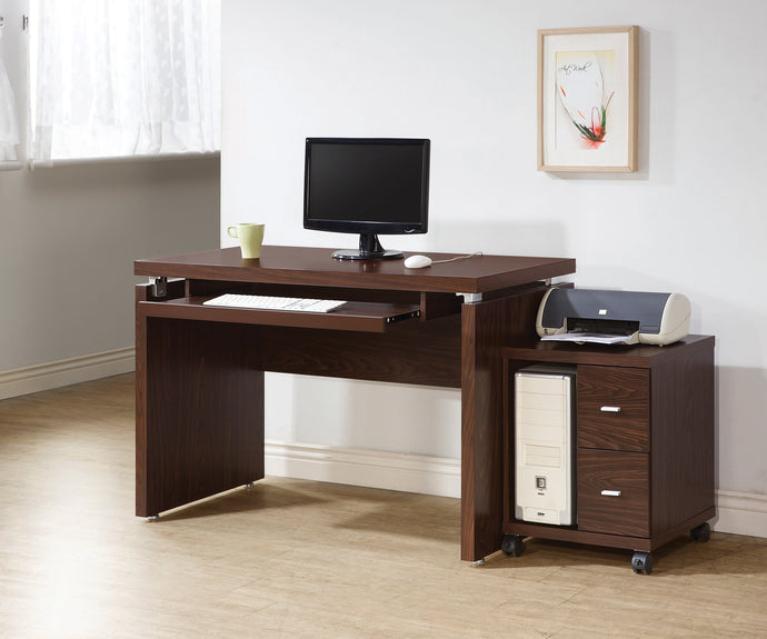 Peel Brown Computer Desk and CPU Stand