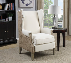 Coaster Oatmeal and brown Accent Chair