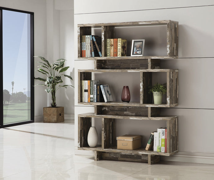 Salvaged Cabin Bookcase Contemporary Style