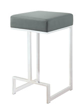 Load image into Gallery viewer, Coaster Grey Leatherette and chrome Base Counter Height Stool