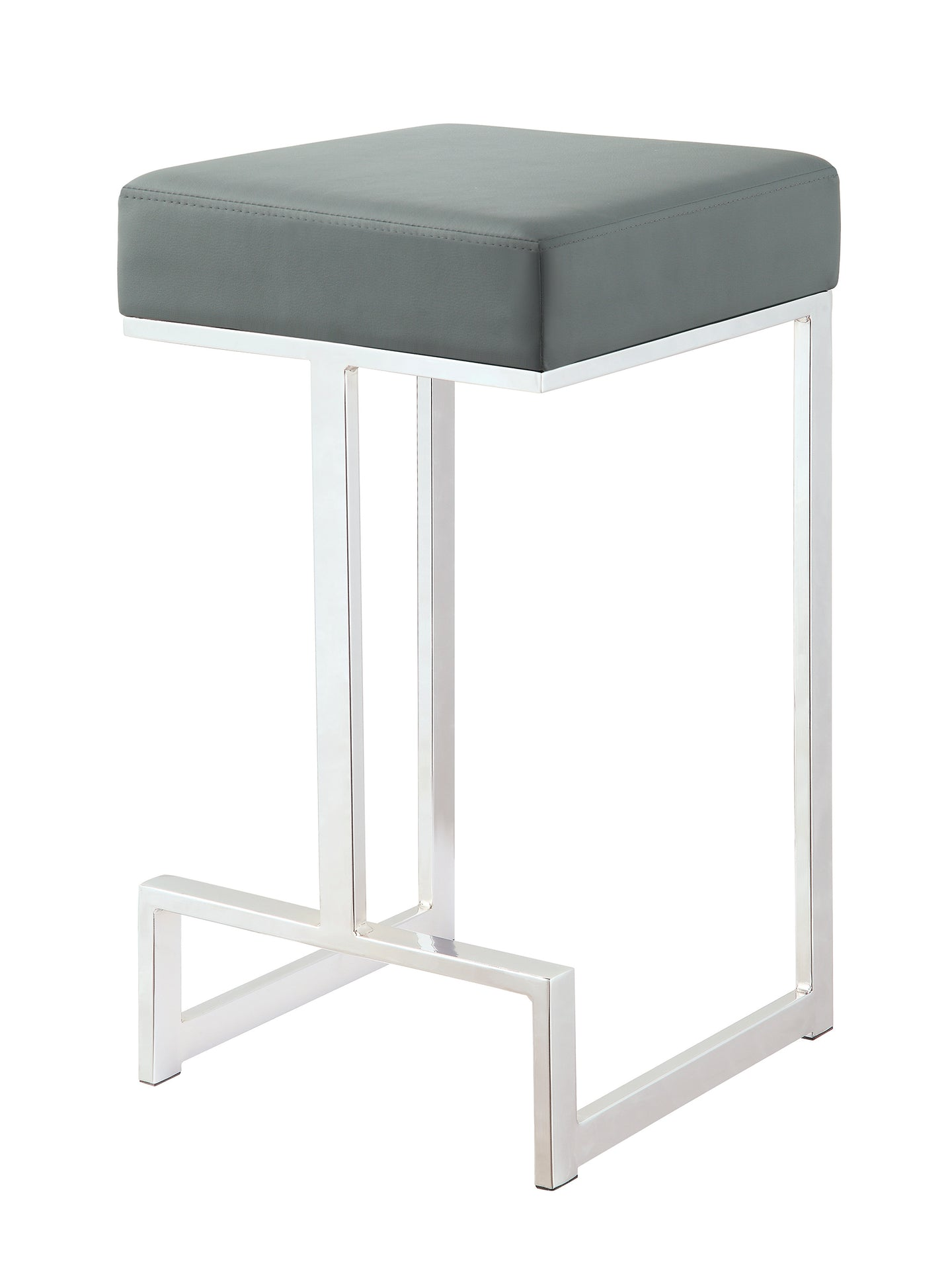 Coaster Grey Leatherette and chrome Base Counter Height Stool