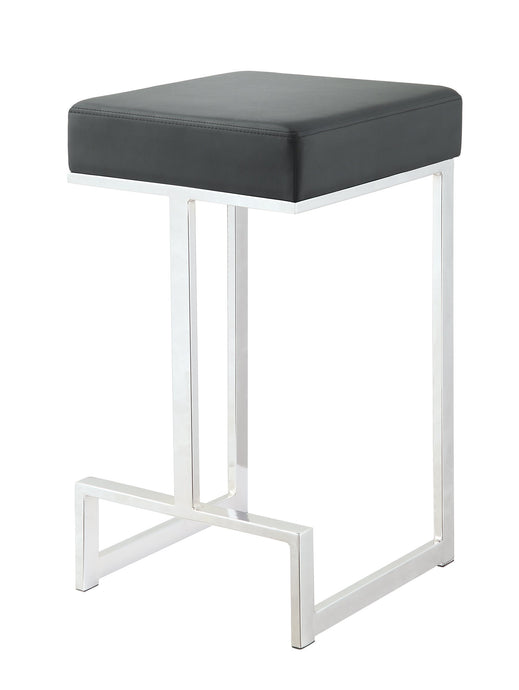 Homy Living Black Leatherette and chrome Base Counter Height Stool