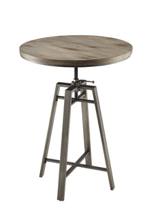 Coaster Wire Brushed Nutmeg Adjustable Bar Table