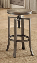 Load image into Gallery viewer, Coaster Wire Brushed Nutmeg Adjustable Bar Stool Set of 2