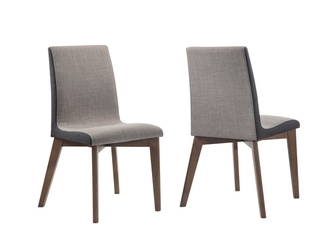 Homy Living Redbridge Natural Walnut Wood Finish 2 Piece Dining Side Chair