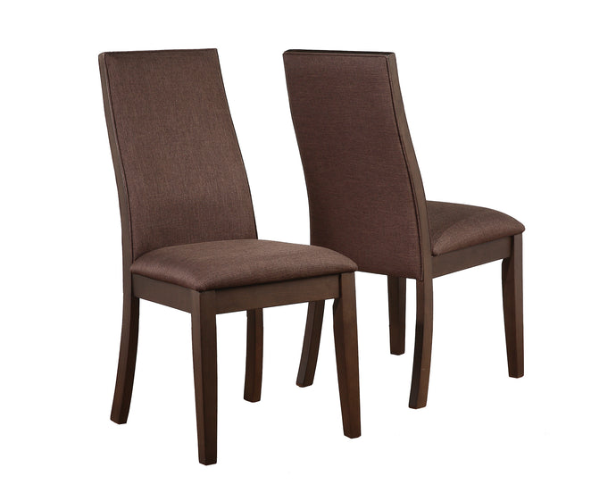 Coaster Spring Creek Natural Walnut Espresso Side Chair Set of 2