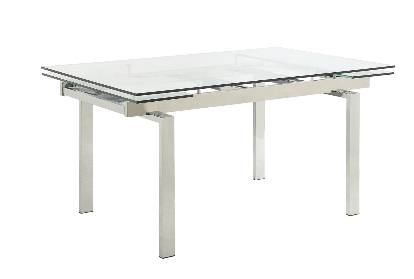 Glass Top Wexford Chrome Dining Table